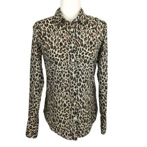 J. Crew The Perfect Shirt Button Up Leopard Top
